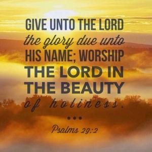 Psalm29.2